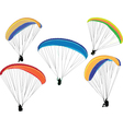 paragliding collection vector image vector image