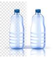 plastic bottle mineral drink bluer vector image vector image