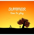 Poster summer landscape style play theme vector image