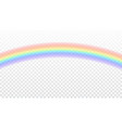 rainbow icon realistic isolated white transparent vector image vector image