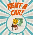 Rent a car design vector image vector image
