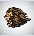 retro lion logo design vector image vector image