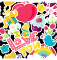 romantic love seamless pattern vector image vector image