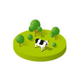 rural icon countryside ecological landscape farm vector image