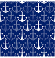 Seamless pattern made of anchors vector image vector image