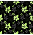 Seamless spring pattern Green leaf vector image vector image