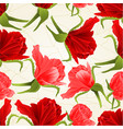 seamless texture red and pink roses flower buds vector image vector image