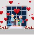 senior couple on romantic date in paris elderly vector image