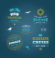 Set of Design Elements Retro Summer Holidays vector image vector image