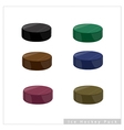 Set of Hockey Puck on White Background vector image vector image