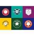 set vintage color baseball championship logos vector image vector image