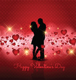 Silhouette of couple on Valentines Day background vector image vector image