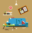 sofa in dirty organized apartment different vector image