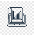 stadistics concept linear icon isolated on vector image