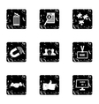 Team icons set grunge style vector image vector image