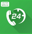 technical support 247 icon in flat style phone vector image vector image