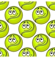 Tennis ball seamless pattern vector image vector image