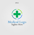the cross logo for medical and pharmaceutical vector image