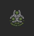 triple luck logo vector image