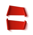 Two blank red abstract banners vector image vector image
