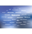 welcome phrases in different languages the vector image