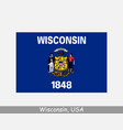 wisconsin usa state flag wi usa vector image vector image
