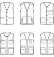 work vest set vector image vector image