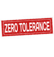 zero tolerance sign or stamp vector image vector image