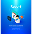report poster of isometric color design vector image