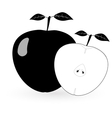 Black apple - vector image