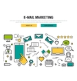 E-mail marketing line concept vector image