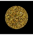 Golden disco ball Shiny illuminated disco ball on vector image