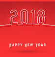 2018 happy new year cover vector image vector image