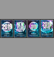 2019 party flyer poster set night club vector image