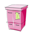 A chest of drawers vector image vector image