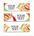 Abstract colorful headers or banners set vector image vector image