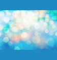 abstract soft colors bokeh on blue background vector image