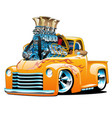 american classic hot rod pickup truck cartoon vector image vector image