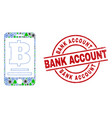 bank account textured badge and mobile mosaic