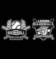 baseball league championship badge logo emblem vector image vector image