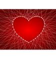 Beautiful heart of luminous garlands vector image