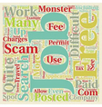 Beware Of Job Fraud Scams text background vector image vector image