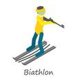 biathlon icon isometric style vector image