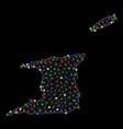 bright mesh network trinidad and tobago map with vector image vector image