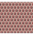 Brown cubes seamless pattern vector image