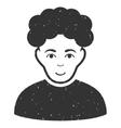 Brunet Man Grainy Texture Icon vector image vector image