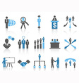 Business and Management Icons blue series vector image vector image