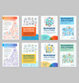 business solutions brochure layout vector image vector image