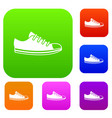 canvas sneaker set collection vector image vector image