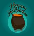 Cauldron Happy Halloween vector image vector image